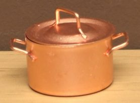 Dolls house copper jam pan