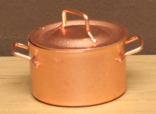 Dolls house copper jam pan