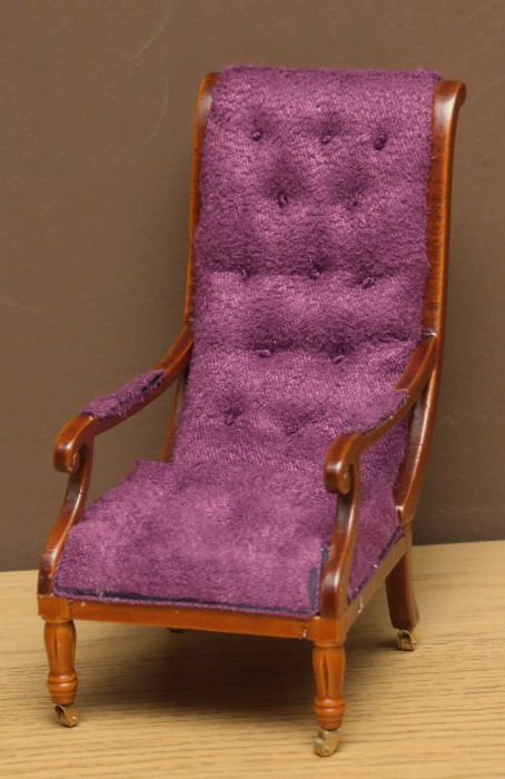 Dolls house library chair