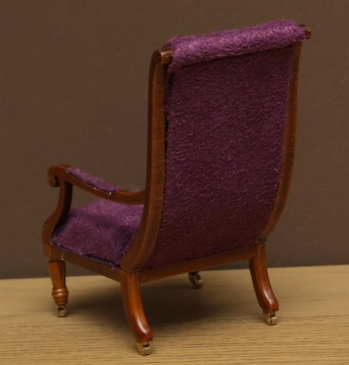 Dolls House library chair back