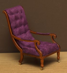 Dolls house William IV library chair