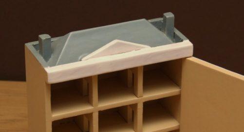 Miniature dolls house roof