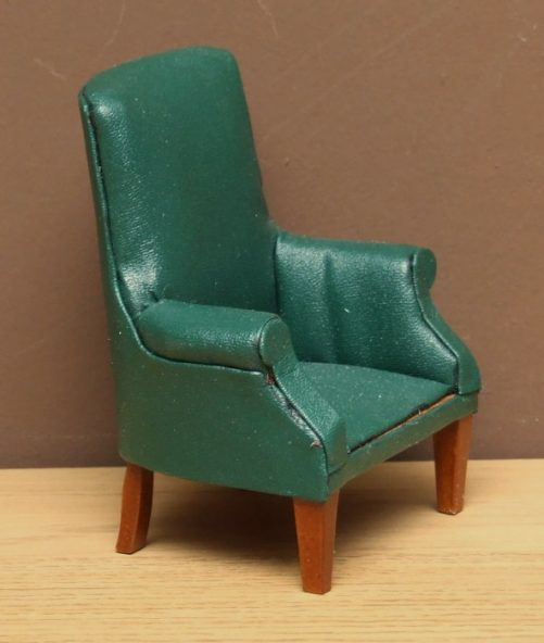 Dolls house leather chair