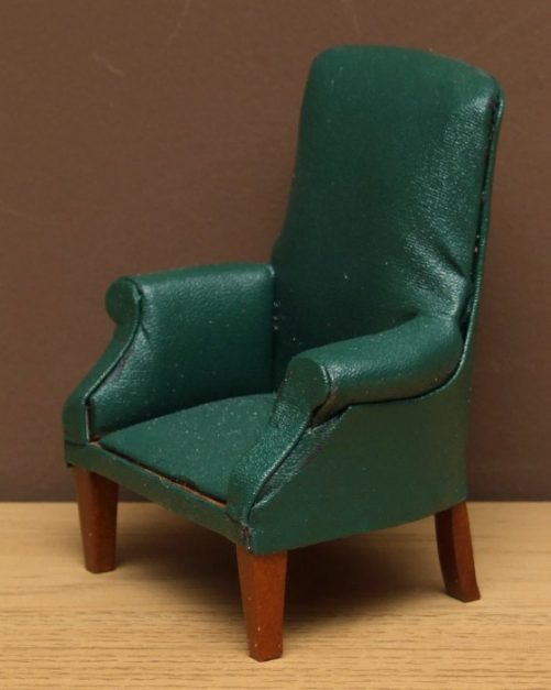 Dolls house green chair