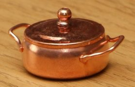 Dolls house copper cooking pot