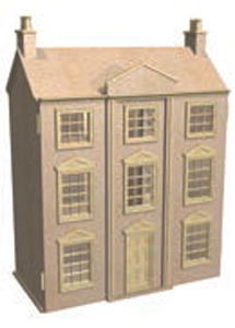 Unpainted dolls house kit
