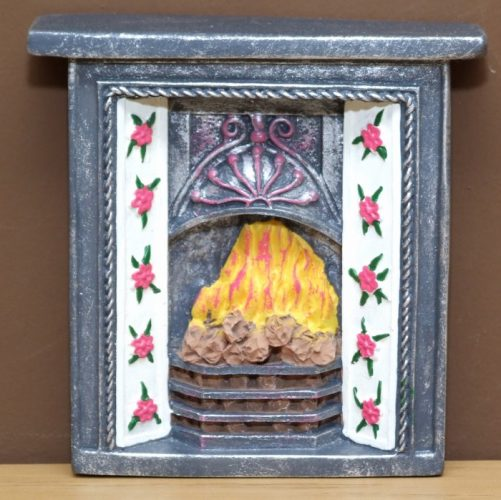 Dolls House fireplace with flower surround