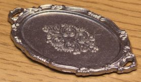 Silver dolls house serving salver