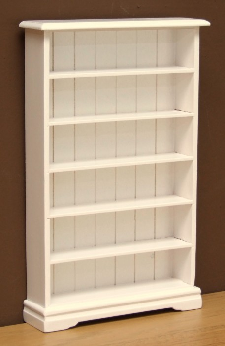 dolls house white book case
