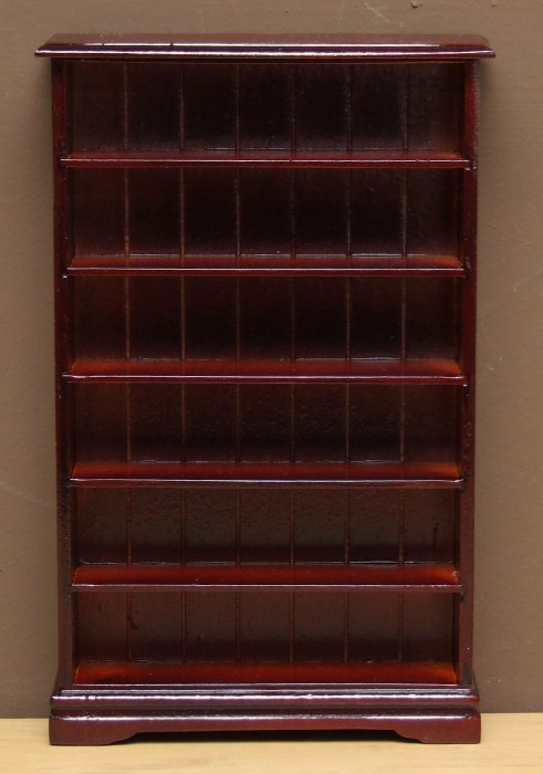 Dolls house mahogany bookcase