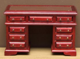 Dolls house 9 draw writing desk