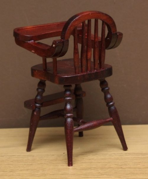 Dolls house high chair back