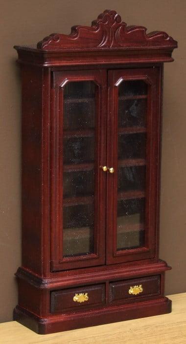 Dolls house mahogany bookcase