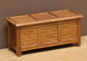 Dolls house oak chest