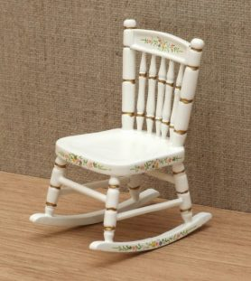 Floral dolls house rocking chair