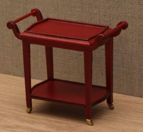 Dolls house serving trolley