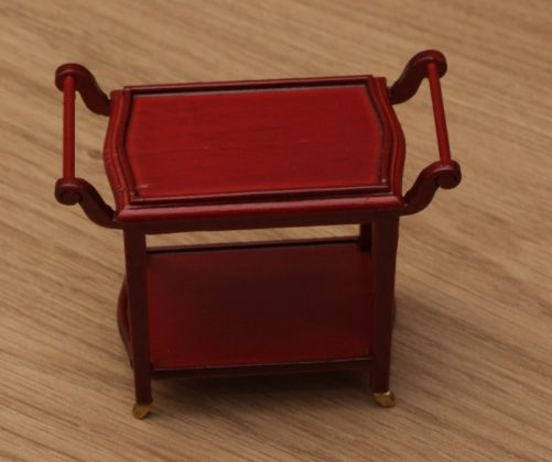Top of dolls house serving trolley