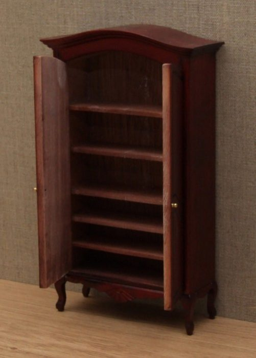 Dolls house wardrobe internal shelves