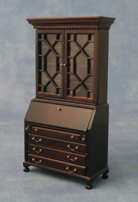 Dolls house bookcase cabinet