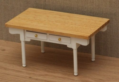 Dolls house modern kitchen table