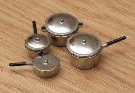 Dolls house saucepans