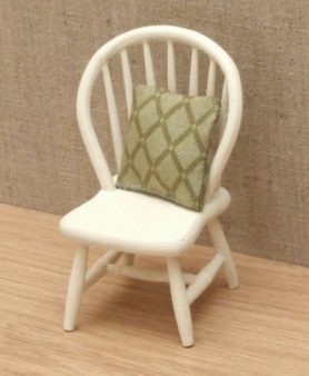 Dolls house spindle back chair with cushion