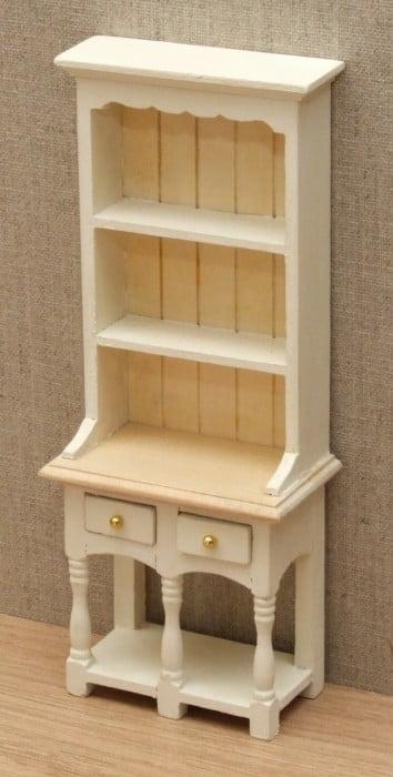 1 12 Dolls House Narrow Country Kitchen Dresser Cream Or