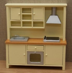 Dolls house complete kitchen unit