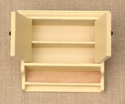 interior of shaker wall cabinet