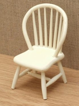 cream Dolls house spindle back chair
