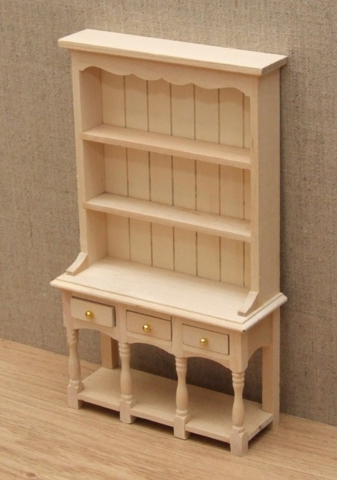 Bare wood dolls house dresser