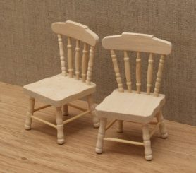 VBare wood dolls house kitchen chairs