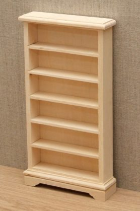 Bare wood dolls house bookcase