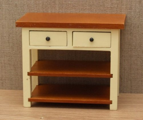 Shaker style dolls house kitchen side table