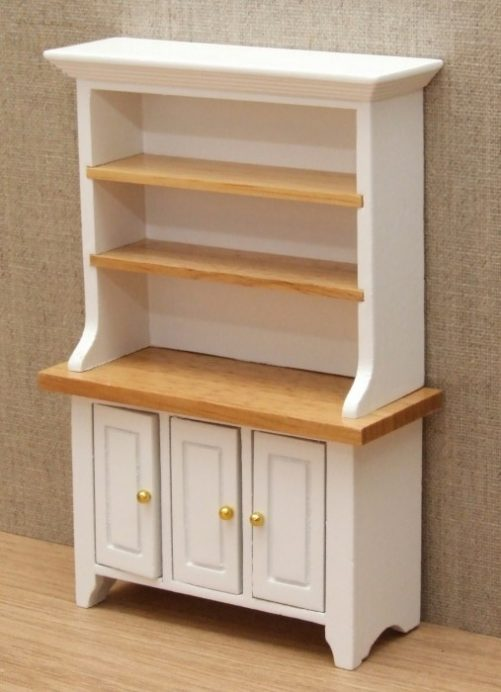 White dolls house kitchen dresser