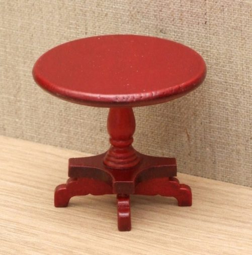 Dolls house pedestal wine table