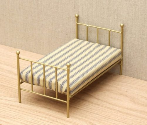 'Brass' Dolls house single bed