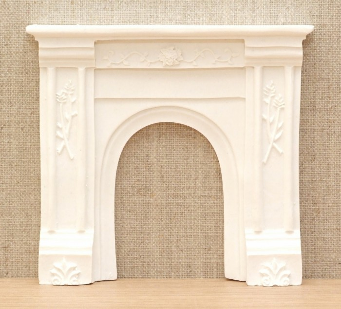 Dolls House Miniatures 1//12th Black Resin Arched Fireplace DF683 New