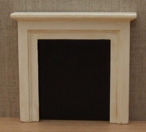 Aged dolls house fire surround