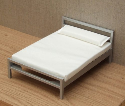 Dolls house modern double bed