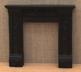 Black Georgian fire surround