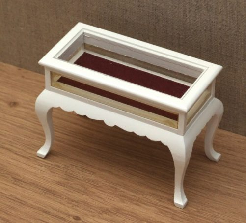 Dolls house curio table display cabinet