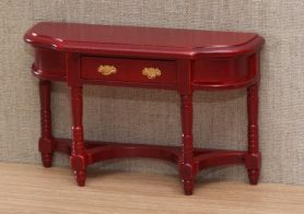 Mahogany dolls house hall side table