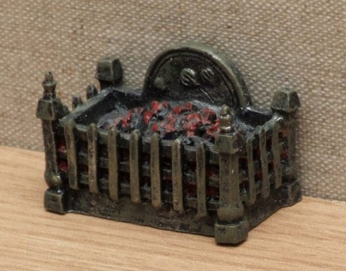 Square dolls house fire grate