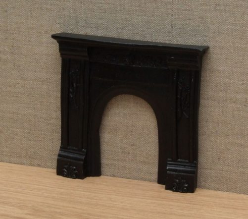 Dolls house Victorian fireplace black