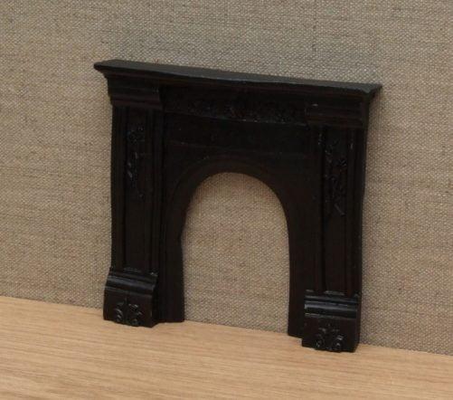 Dolls house Victorian fireplace black