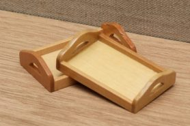 Dolls house tea trays
