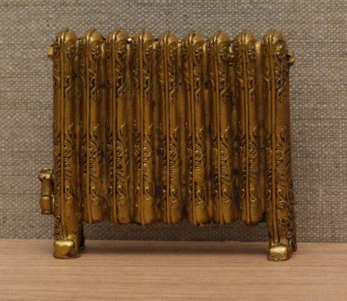 Gold dolls house Victorian radiator