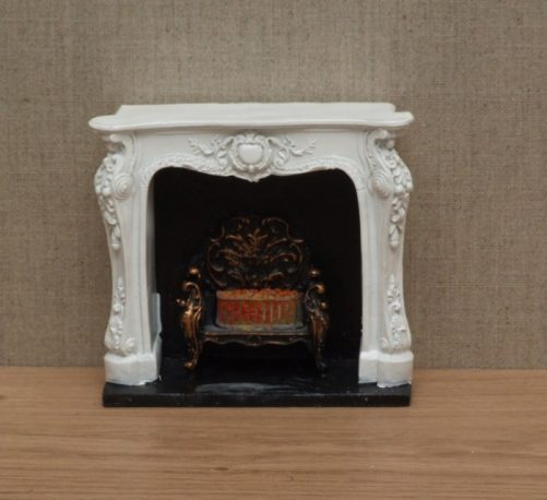 Dolls house Ricoco- style fireplace