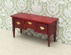 Dolls house 3 draw sideboard
